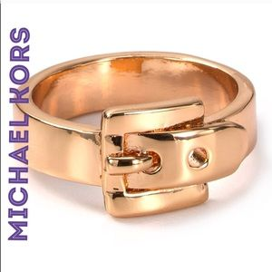 Micheal Kors Rose Gold Buckle Ring Size 6